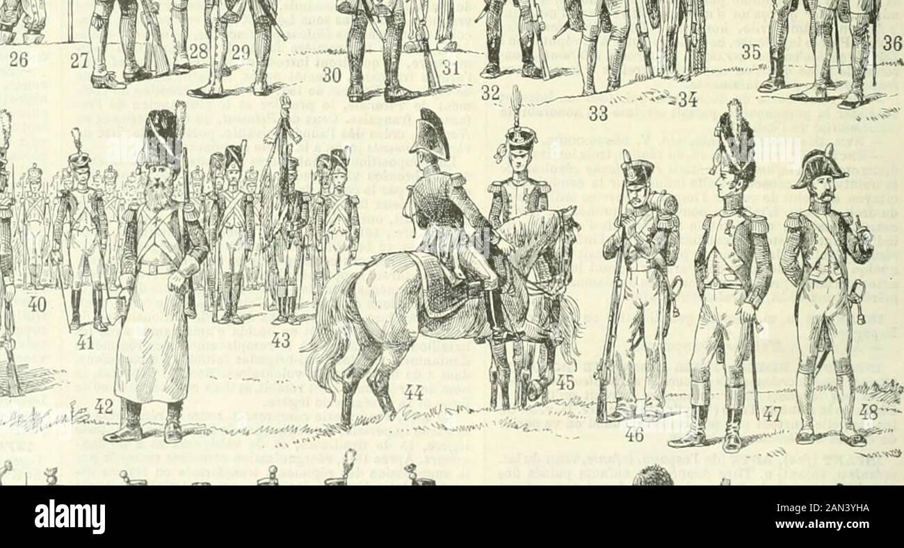 Nouveau Larousse illustraté : Dictionnaire universel encyclopédique . i ii^^^^r-i im^f^^^ ^^^^^^^ f^^B^ ^ A ! .^, NJ u^ Infanterie : 1. Égyptien. — 2. Assyrien. — 3. Perse. — 4. Grpc, 63 61 Bon. — t*. Charles V. — 15. Charles VI : 2 pieds Louis xm. - S 7. Louia XIV légère; 36. Ofllcicr dinfanterie _ ^ ... , majeur ; 45. Colonel ; 46, Grenadier, tenue Ue camp : C/wrlM X : 53. Infanterie. — Louit-Philipe : 64. Grenadier ; B5. Infanterie lëgè : ; 47. Officier de grenadiers de la garde ; 48. Grenadi 61. Grenadier de la gartle i 62. Lafanterie . - f^^--^--. .- Sapeur.-43. Porte-drapeau; U. Offlcierdétat-•..i Banque D'Images