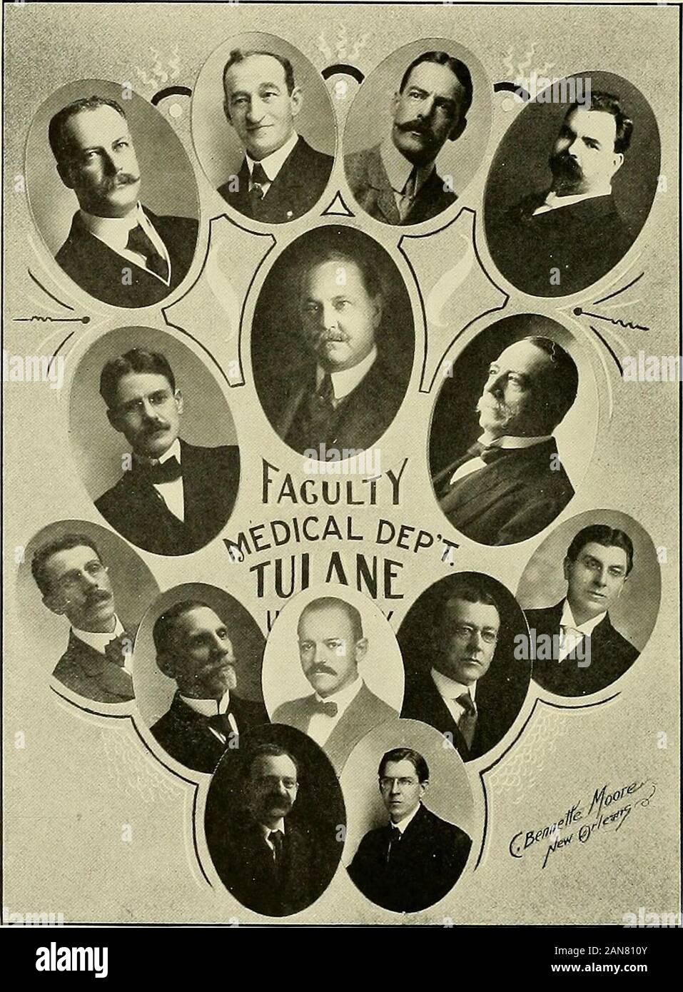 Jambalaya [1909] . HTON, U. S. N., professeur de génie mécanique. 12,63 Henry Clay .Avenue.RUDOLPH MAT COMME, M.D., professeur de chirurgie générale et clinique. 2255 SI. Charles Avenue.FREDERICK WESPY, Ph.D., professeur d'Allemand (Xewcomb College). 3004 rrylania Street.ABRAHAM LOIIS MF.TZ. M.Pli.. M.D., professeur de chimie et la jurisprudence médicale. 9 /(i.vii; Pari. LEVI WASHIXGTt KIXSi)N W II.DANS, M.Sc, professeur de chimie industrielle et de sucre- 639 Sirccl Pin.EUGENE DAVIS SAUNDERS, I.L.H., Doyen de la faculté de droit et professeur d'DejKirtmenl Uiw. 293.S .Coliseum direct.MARY CASS SPENC Banque D'Images