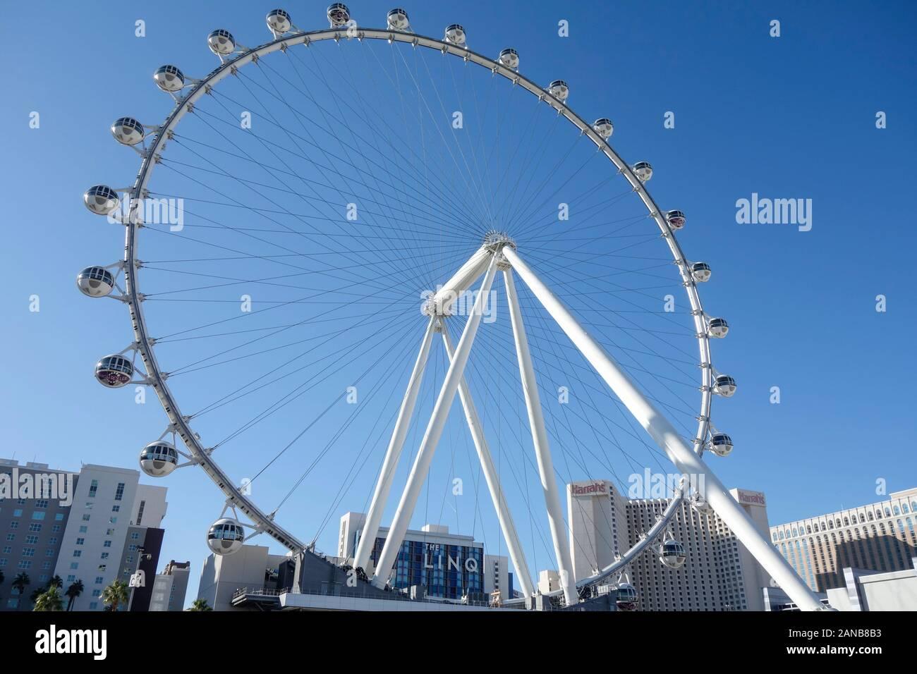La Grande Roue High Roller à Las Vegas, Nevada. Banque D'Images