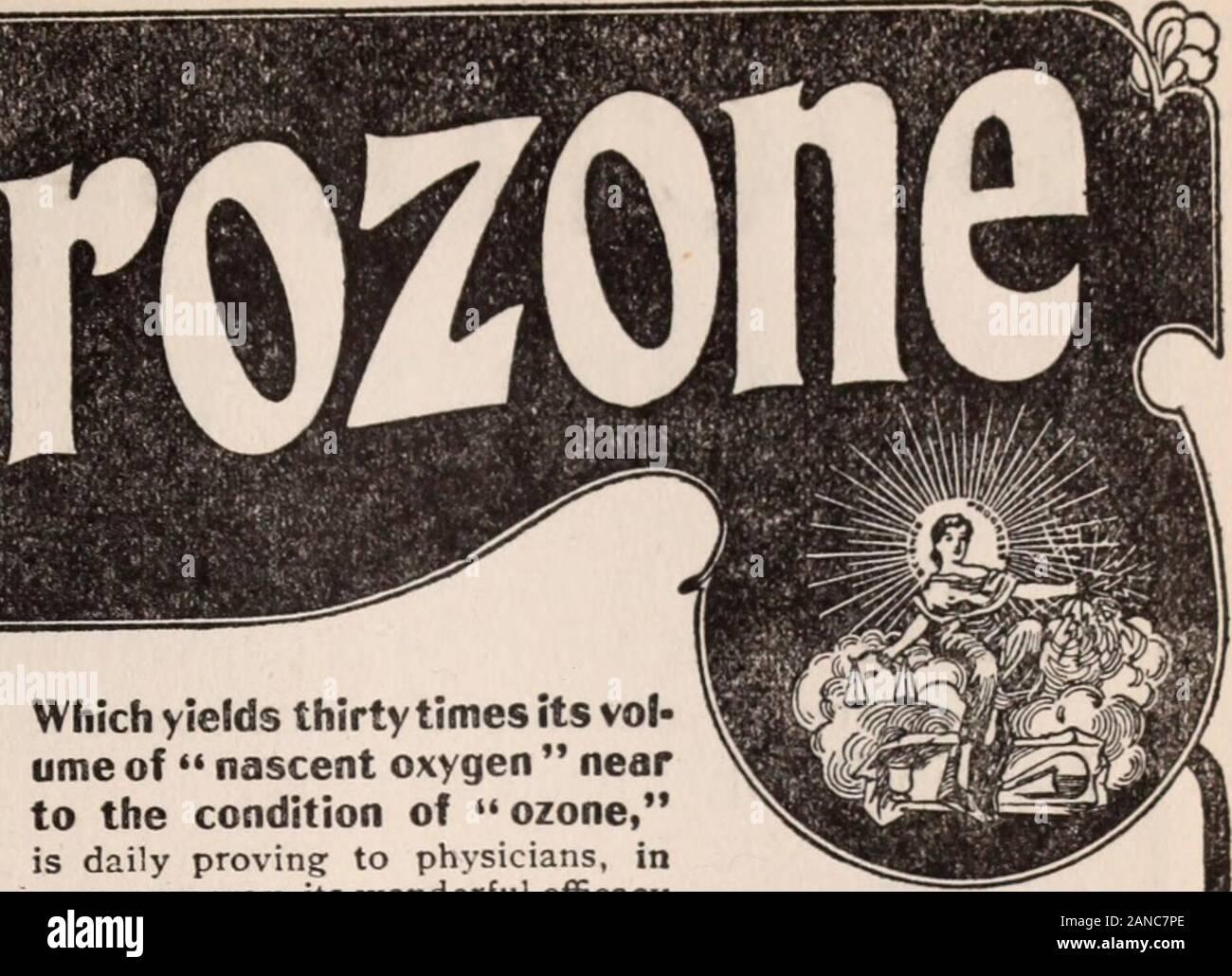 Critique . Ce qui donne 30 fois son vol ume-nearto oxygène naissant de l'état de l'ozone, est quotidiennement la preuve de certains médecins, de façon nouvelle, son efficacyin merveilleux cas tenaces de l'eczéma, psoriasis, démangeaisons, Rheam sel,les barbiers de l'aine, l'érysipèle, Ivy L'empoisonnement, la teigne,herpès zoster ou zona, etc. l'acné, des boutons sur Faceare éclairci et les pores guéri par HYDROZONE et GLYCOZONEin ismagical qu'un moyen. Essayer ce traitement; veuillez vous resultswill. Méthode complète de traiter-ment dans mon livre, le TherapeuticalApplications drozone et de Hy-glyco-zone SeventeenthEdition;, 332 pages.envoyé gratuitement à phy Banque D'Images