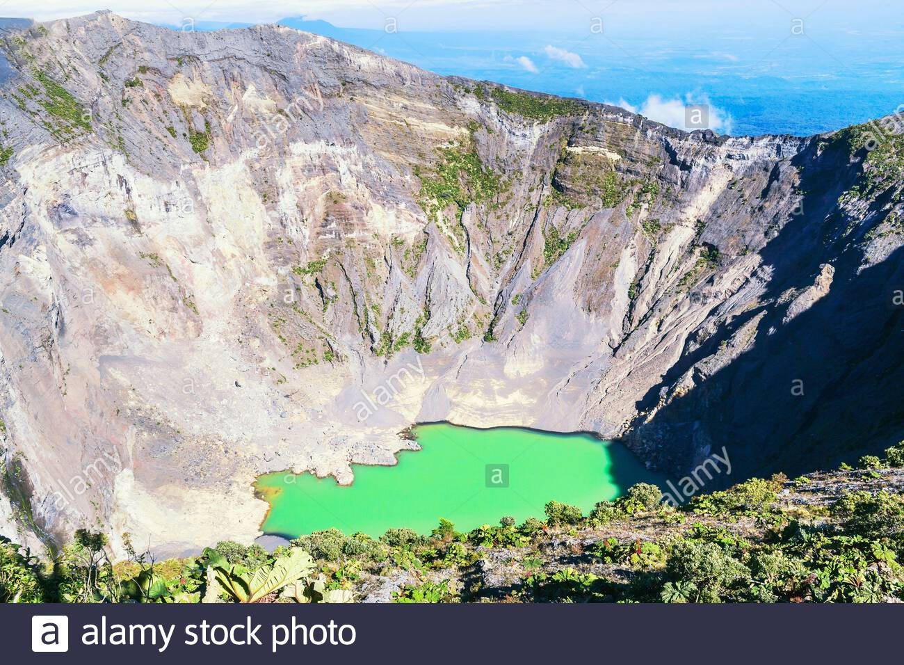 Volcan Irazu, le Parc National Volcan Irazu, province de Cartago, Costa Rica Banque D'Images