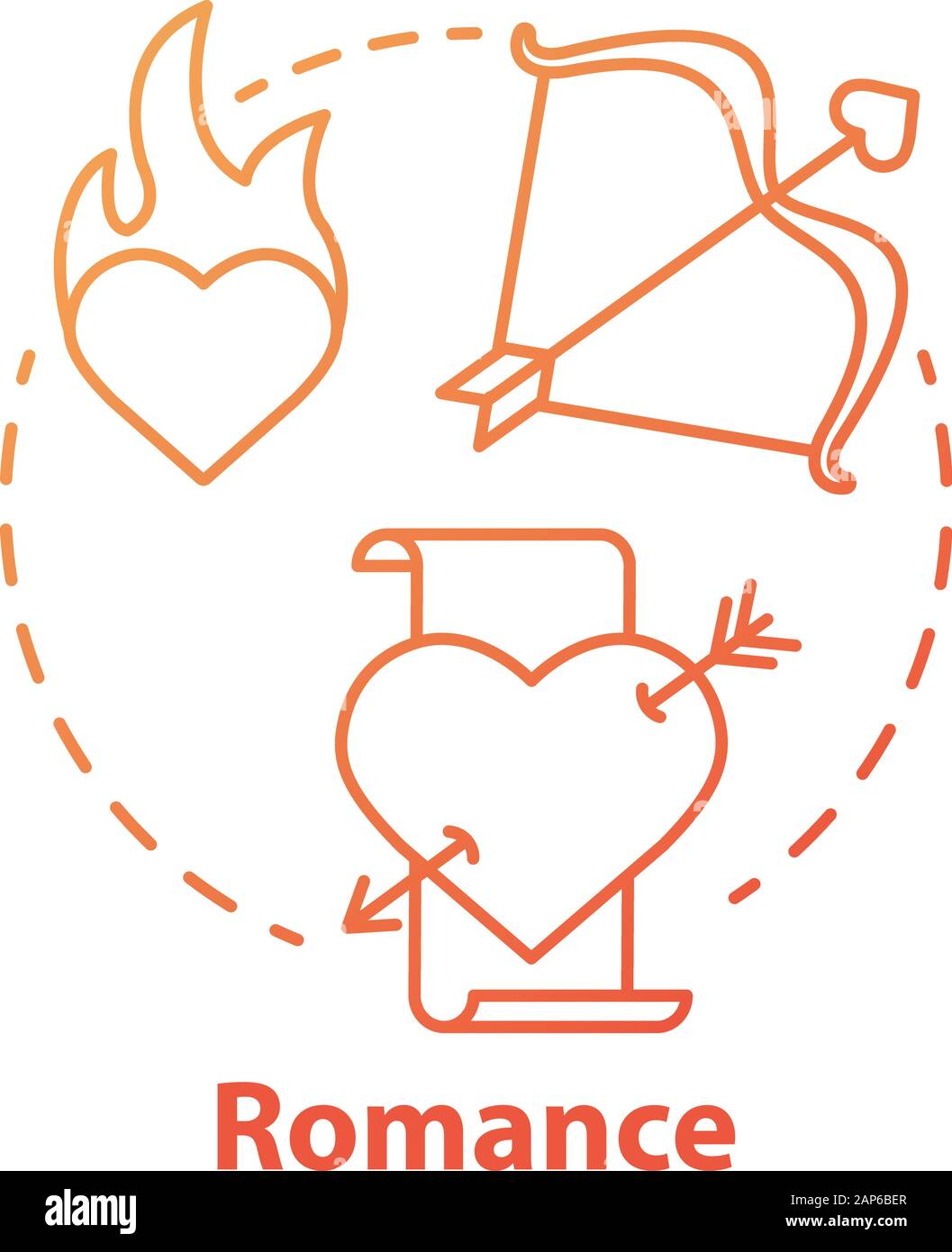La littérature romantique concept rouge icône. Livres romantique idée fine ligne illustration. L'amour l'histoire déchirante et poèmes lyriques. Affaires d'amour et de passion. Illustration de Vecteur