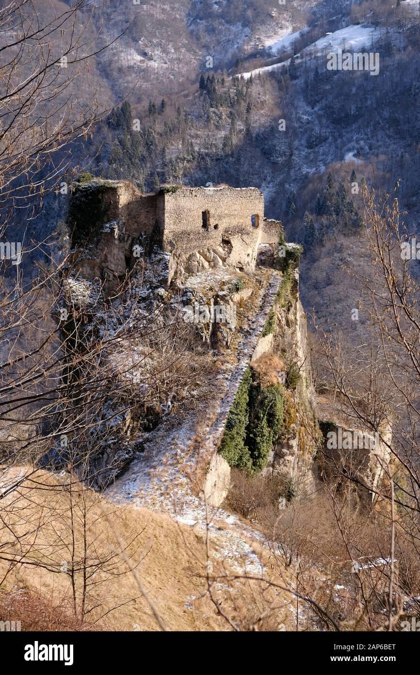 Le monastère de Kuştul était un monastère orthodoxe grec, situé près du village de Şimşirli, du quartier de Maçka, dans la province de Trabzon, en Turquie. Banque D'Images