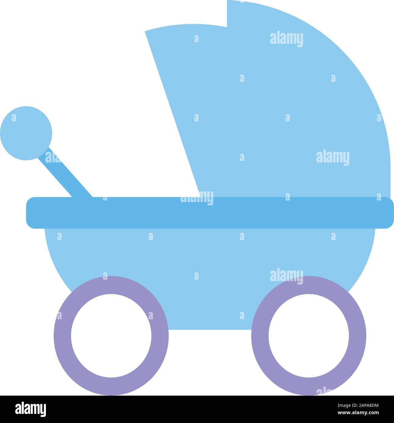 Conception de poussettes pour bébés, innocence de l'objet enfant nouveau-né et illustration vectorielle à petit thème Illustration de Vecteur