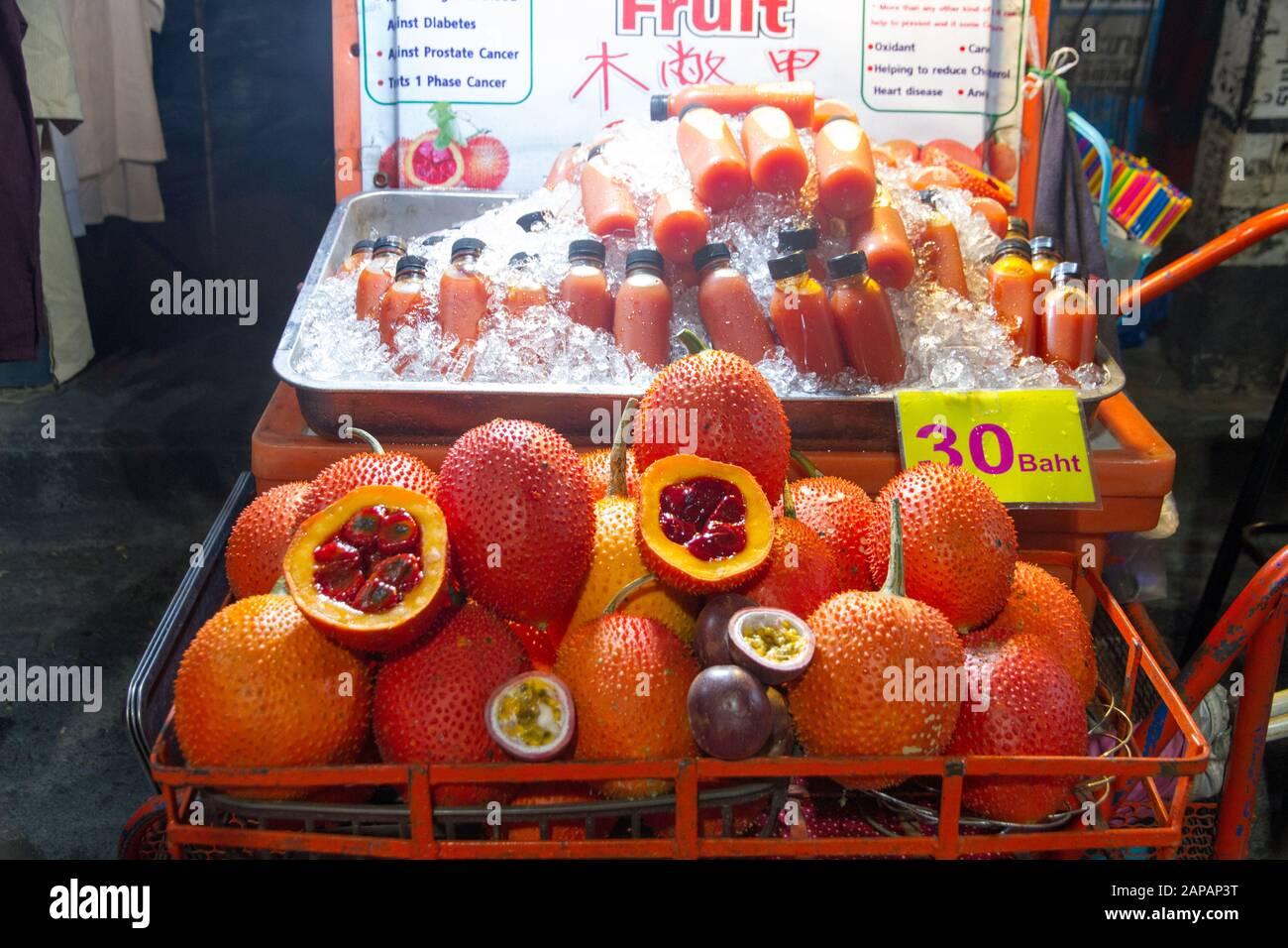 5 graines Gac Fruit Momordica cochinchinensis Herbes et Légumes de Thaïlande