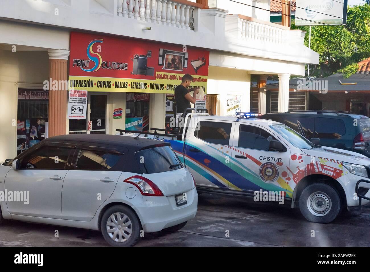 Scène De Rue, Punta Cana , République Dominicaine Banque D'Images