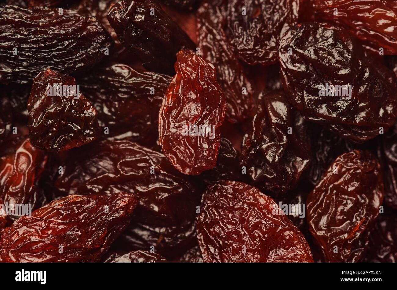 Vue rapprochée des raisins secs Banque D'Images