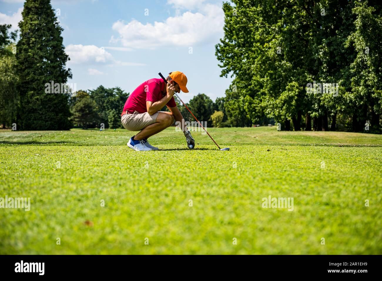 Frapper la photo de golf parfaite Banque D'Images
