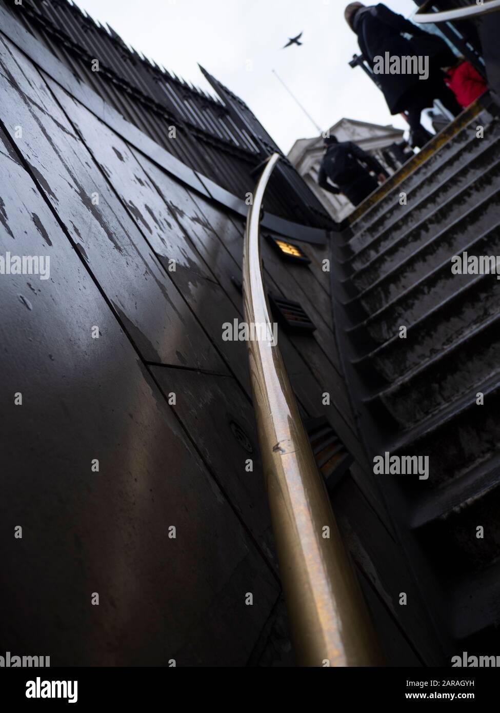 Escaliers Étapes menant à la Banque d'Angleterre en arrière-plan City of London UK Banque D'Images