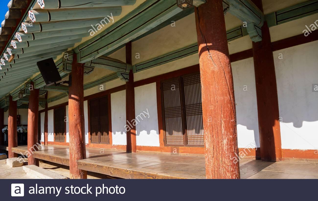 Gyochon Hanok, maison traditionnelle coréenne à Gyeongju, Corée Banque D'Images