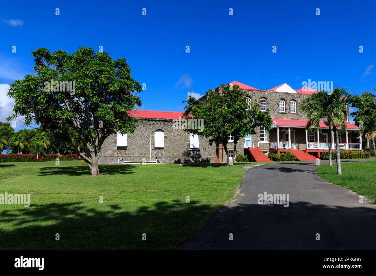 Government House, Bath Plain, Charlestown, Nevis, Saint-Kitts-Et-Nevis, Antilles, Caraïbes, Amérique Centrale Banque D'Images
