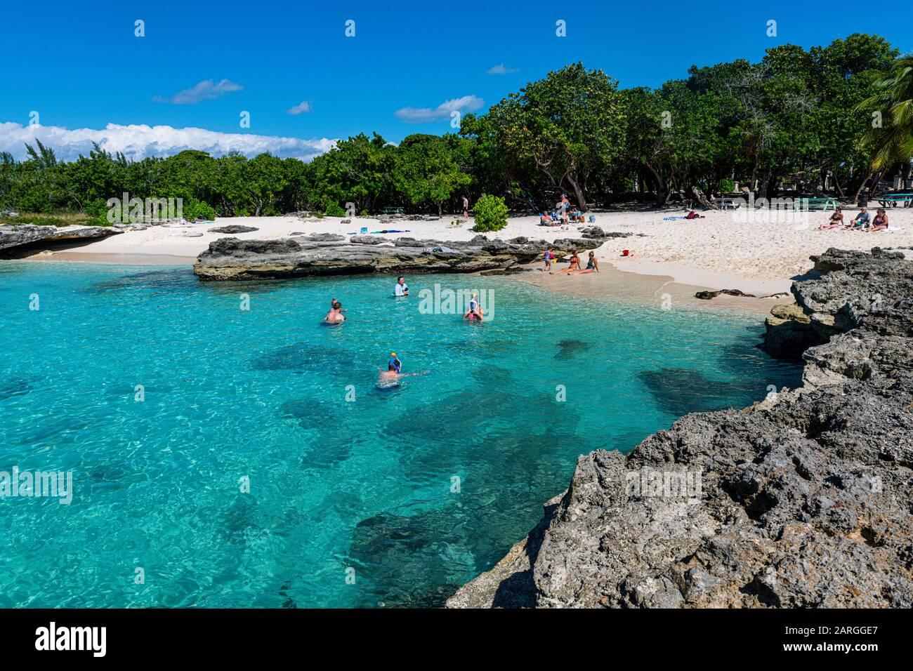 Smith'S Barcadere Crique De Sable, Grand Cayman, Îles Caïmanes, Caraïbes, Amérique Centrale Banque D'Images