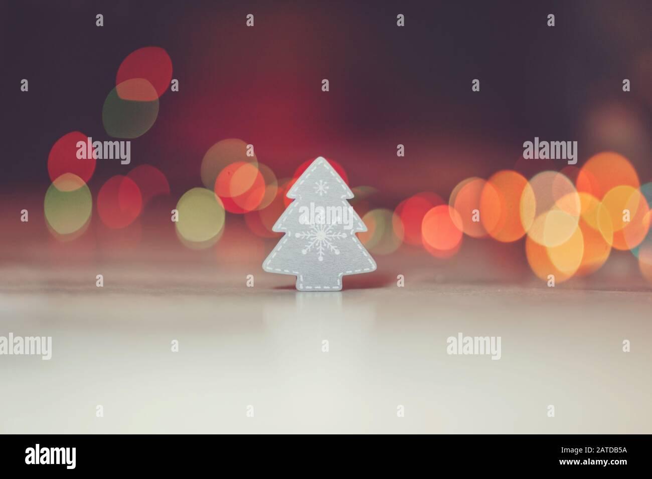 Décoration d'arbre de Noël et bokeh Banque D'Images
