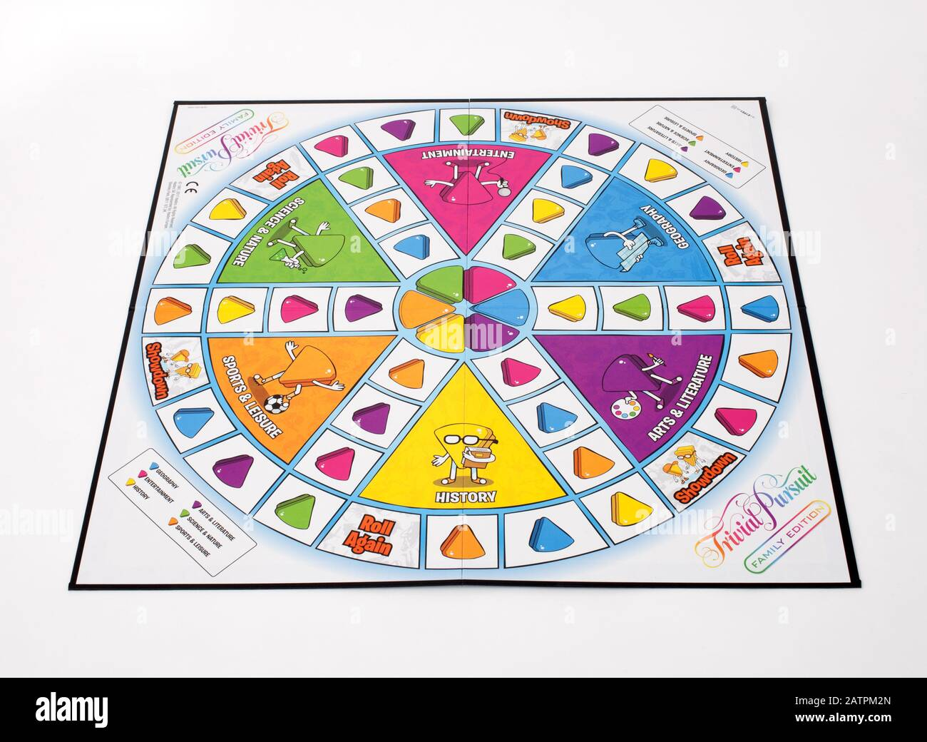 Le jeu de société Trivial Pursuit, édition familiale Banque D'Images