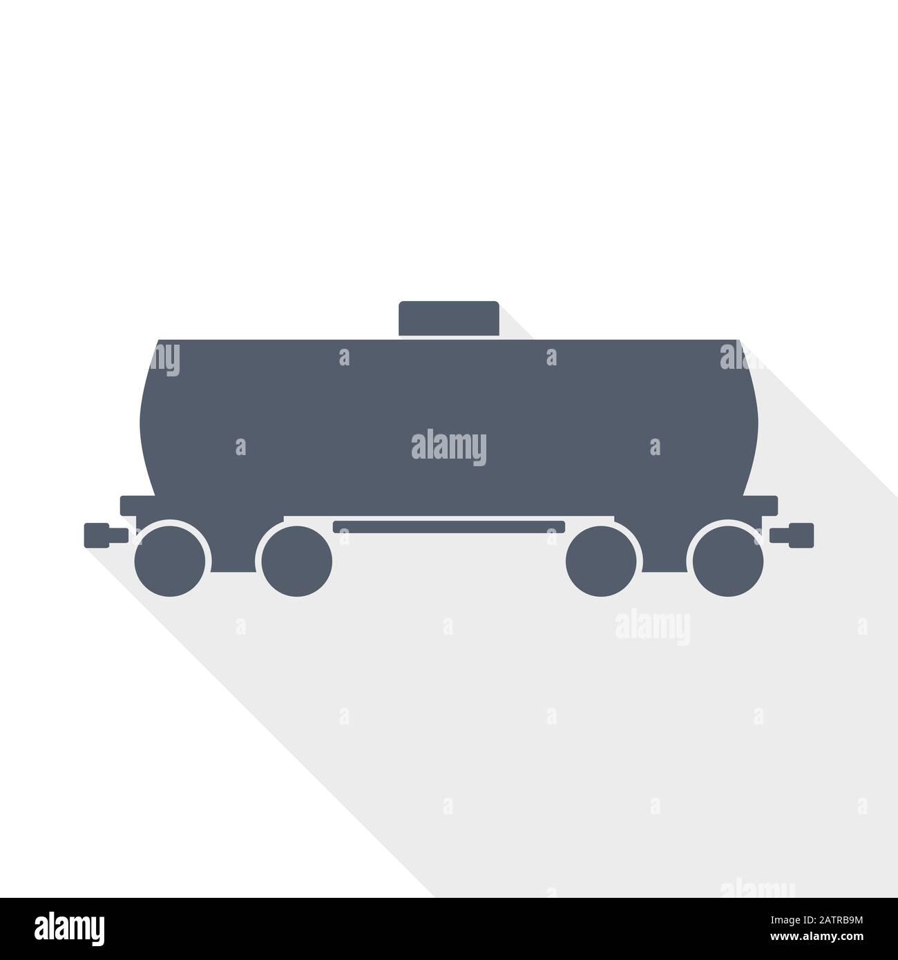 Icône de vecteur de wagon de citerne à carburant, illustration de conception plate de concept de train Illustration de Vecteur