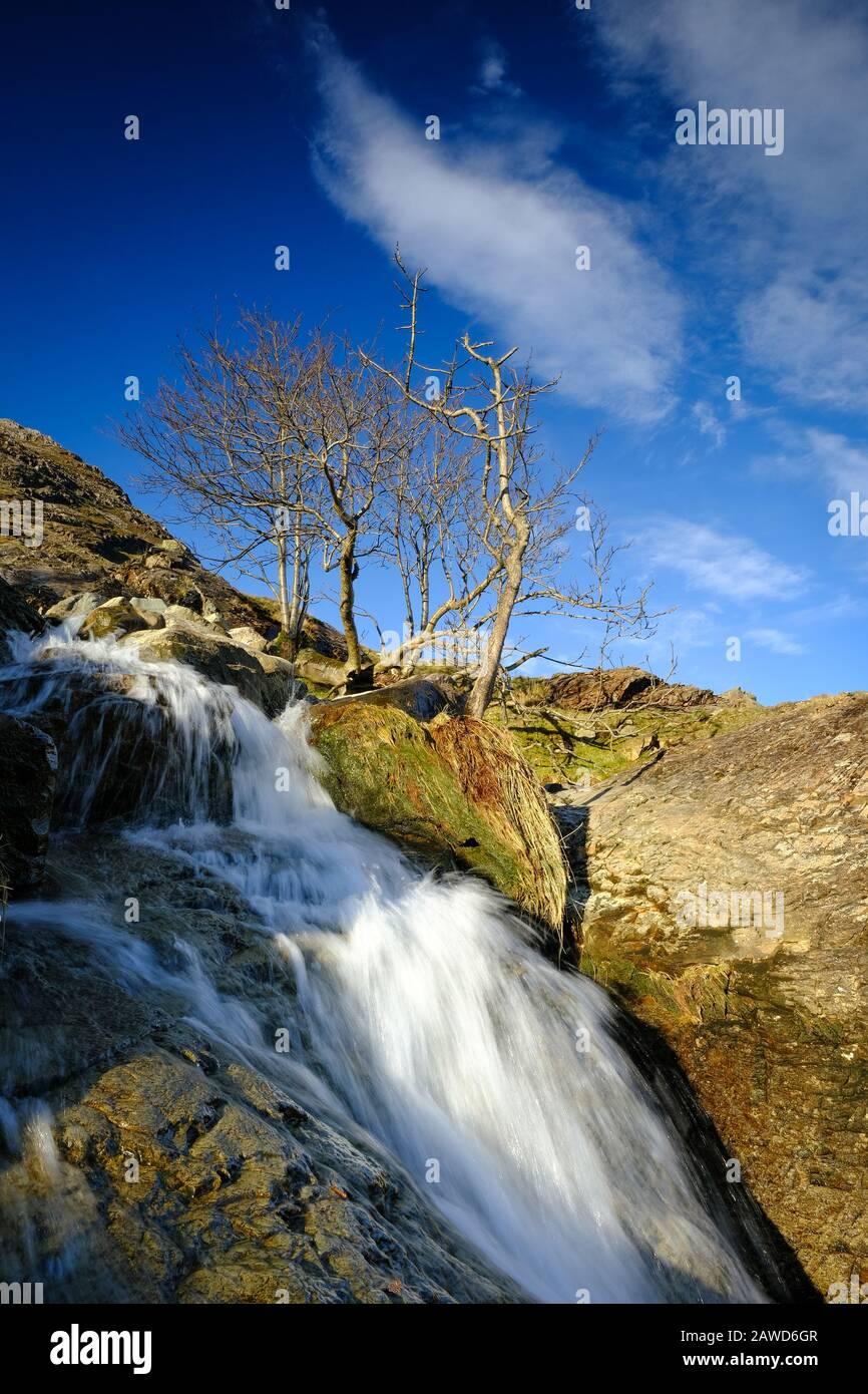 Chutes de Beck à Buttermere dans le district de Lake, Cumbria. Banque D'Images