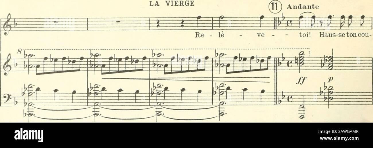 Béatrice; légende lyrique en quatre-tesPoème de Robert de Flers et Gaston Ade Caillavet, d'après Charles Nodier . Ê N^ â^ ^ #<* i / r# ?«^ É rj.- r ri- r É F- -r A. 7203 F. 232 LA VIERGE. # i=* p f r p i r p -/ V M M !? P r M P •ra-g-e et re-dres - se ton avant. Il ne dé - pend de lhom-nie en sa fai - ^m ^ fô; m ^ ^ ^ £ ? ? / ^):i!; ^t :^ =^ / M p jfca 2z: I 17 tf» p^ p p p p p p m ^^ ^ -blés - se, ni de la fera en sa fra - gi - li - té, Dê - tre par le Ma- Banque D'Images