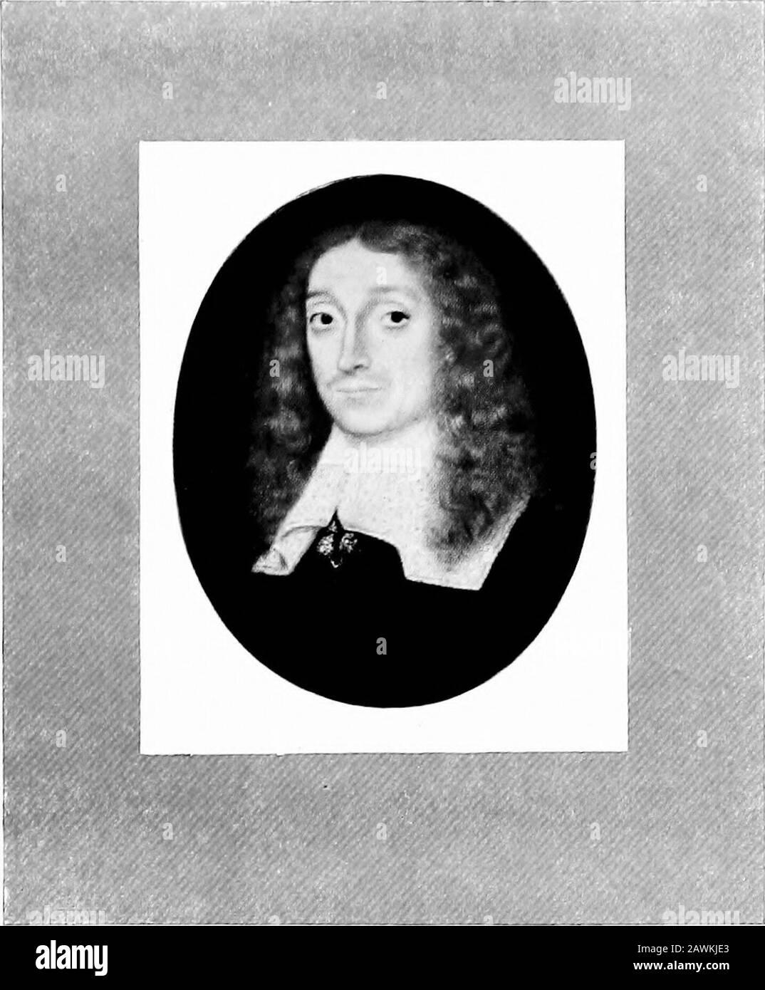 Miniatures de portrait; . RACHEL FANE, COMTESSE DE BATH ET PLUS TARD DE MIDDLESEX (161 2-1680) PAR DAVID DES GRANGES DE LA COLLECTION DE M. E. M. HODGKIN3. JOHN MILTONARTIST INCONNU DE LA COLLECTION DU DR G. C. WILLIAMSON Banque D'Images