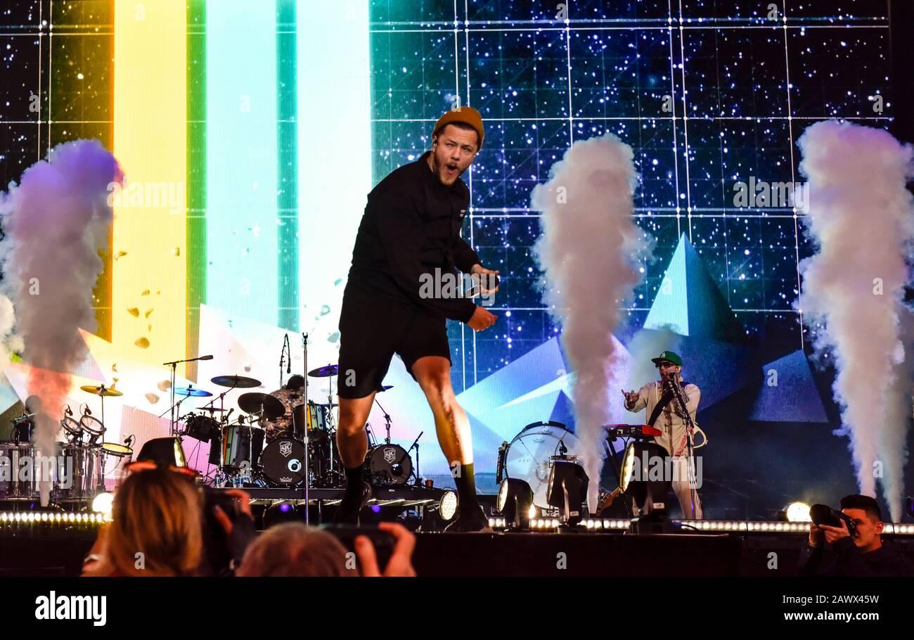 Napa, Californie, le 24 mai 2019, Charles Aznavour sur scène à la bouteille 2019 Rock Festival, Jour 1 BottleRock Crédit: Ken Howard/Alamy Banque D'Images