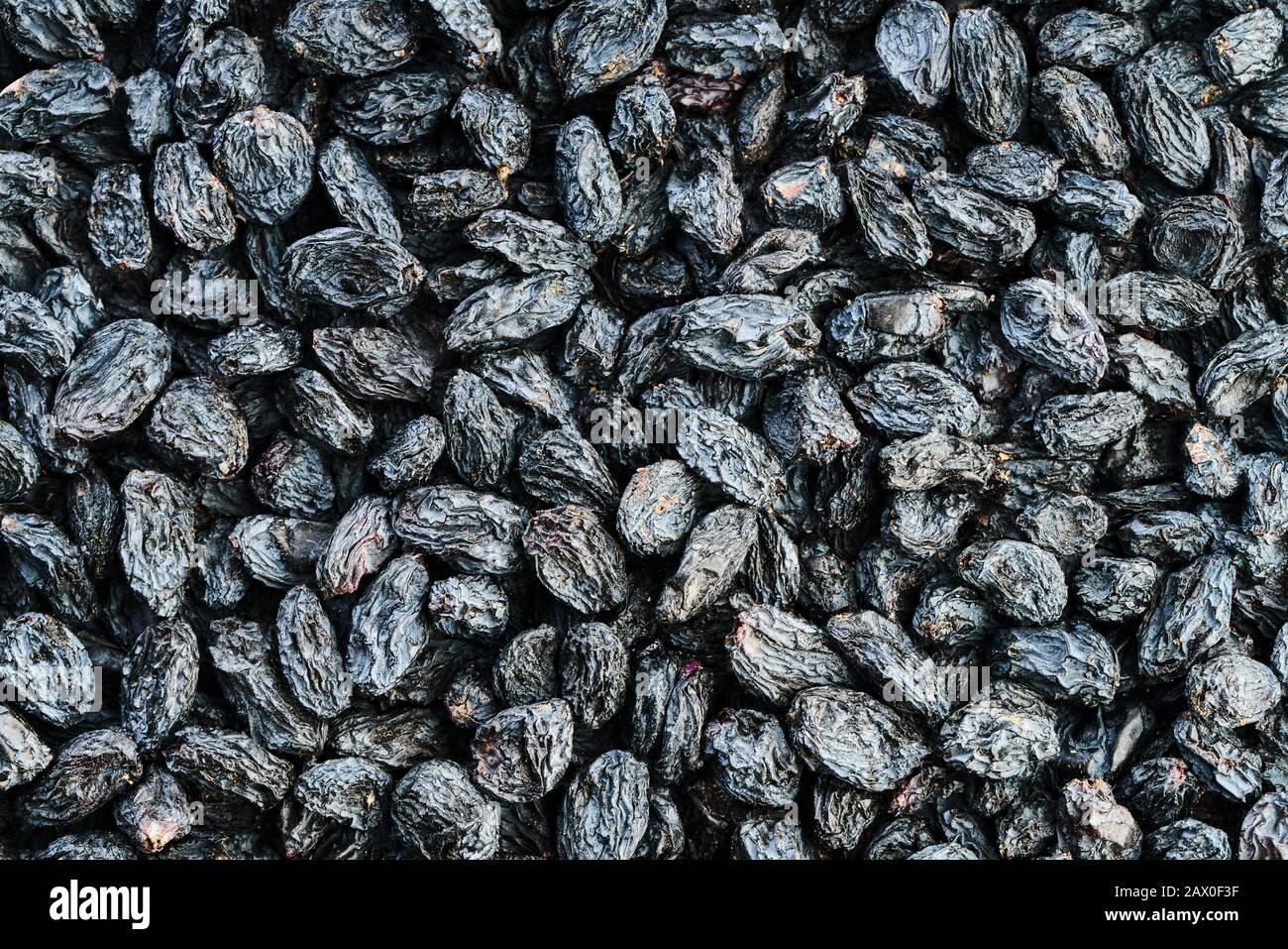 fond de nourriture de la texture de la fermeture de raisin sec Banque D'Images