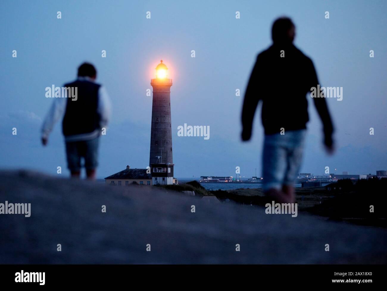 Skagen, Danemark 2012 phare de Skagen dans le nord du Danemark. Photo Jeppe Gustafsson Banque D'Images