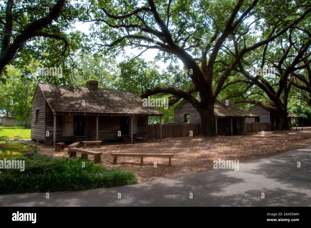 Les quartiers esclaves de la plantation Oak Alley à Vacherie, en Louisiane Banque D'Images