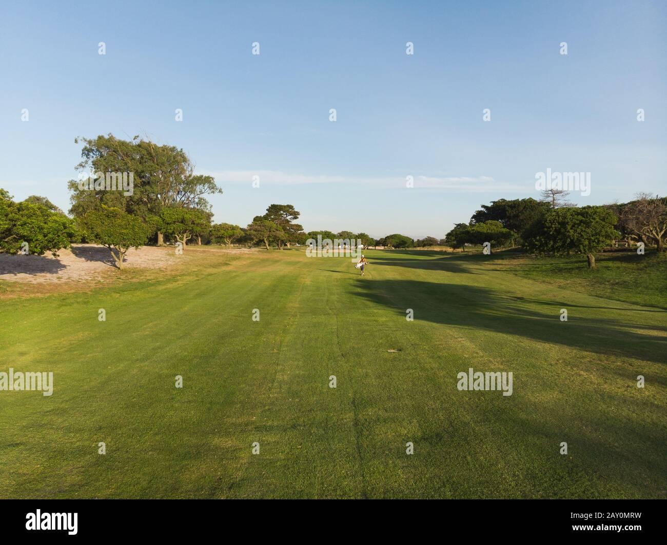 Sur le terrain de golf Banque D'Images