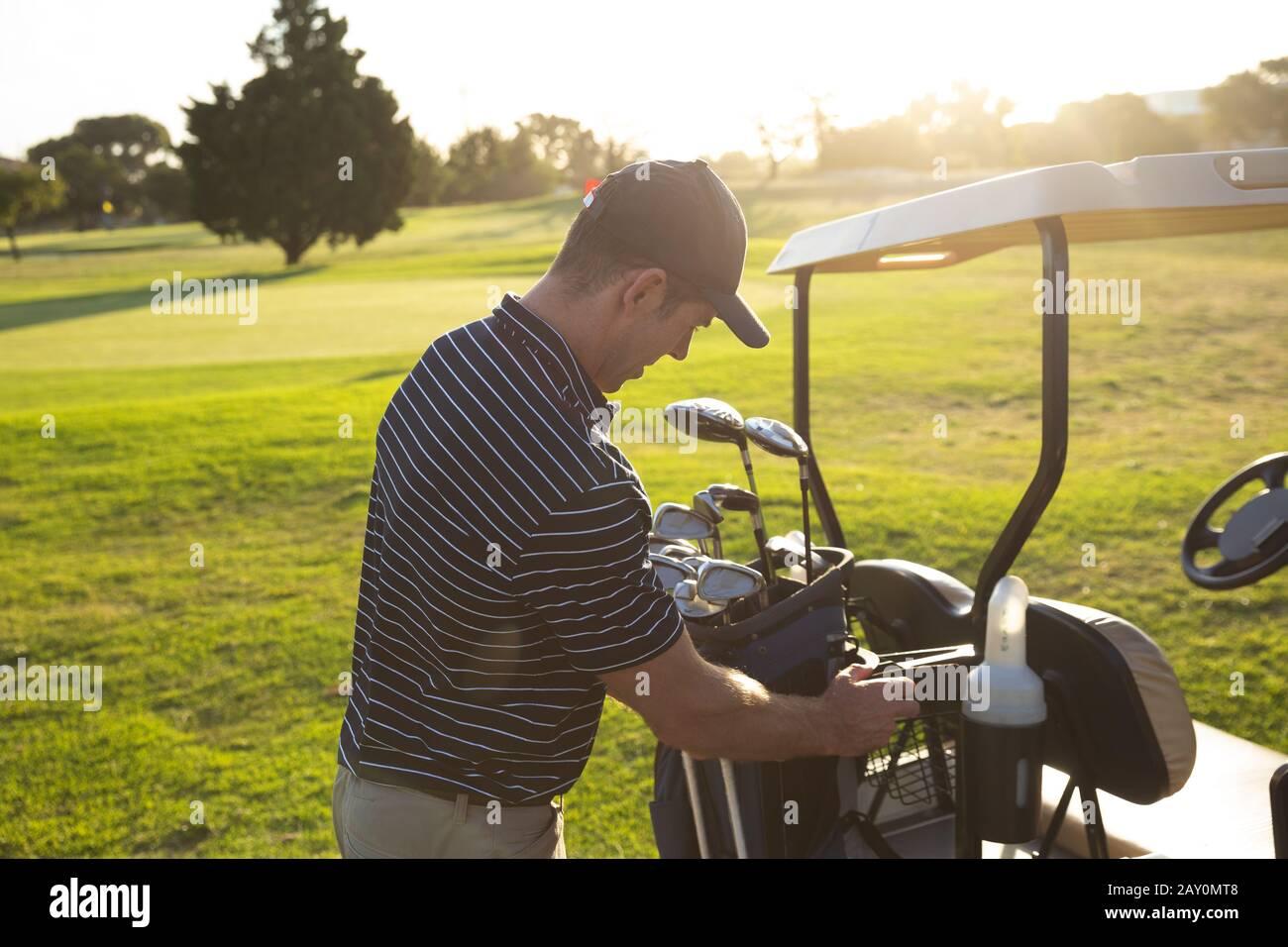 Sac de golf golfeur Banque D'Images