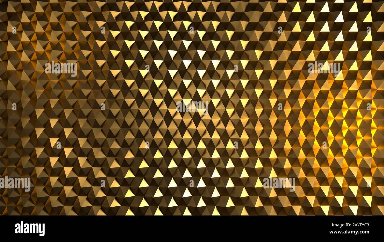 Image abstraite d'un modèle d'hexagones sci-fi jaune Banque D'Images