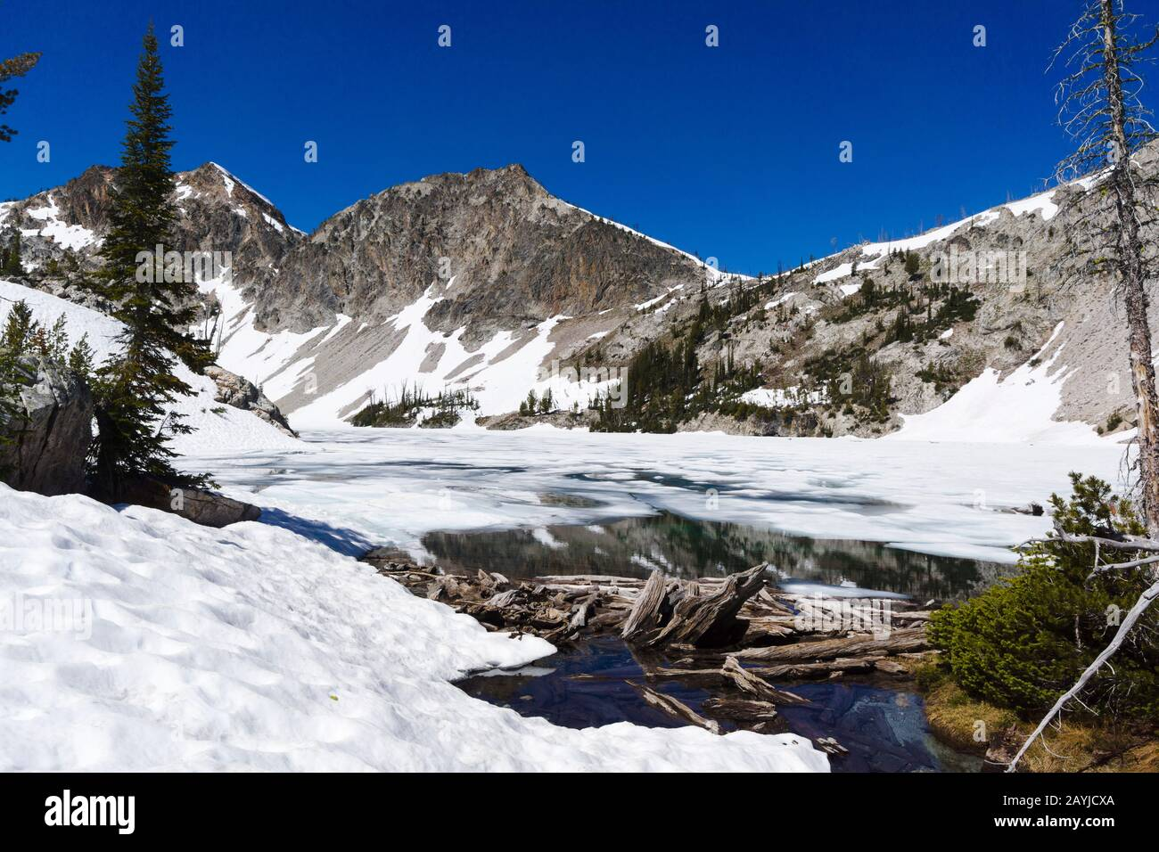 Sawtooth Lake, Sawtooth Wilderness, Idaho, États-Unis Banque D'Images