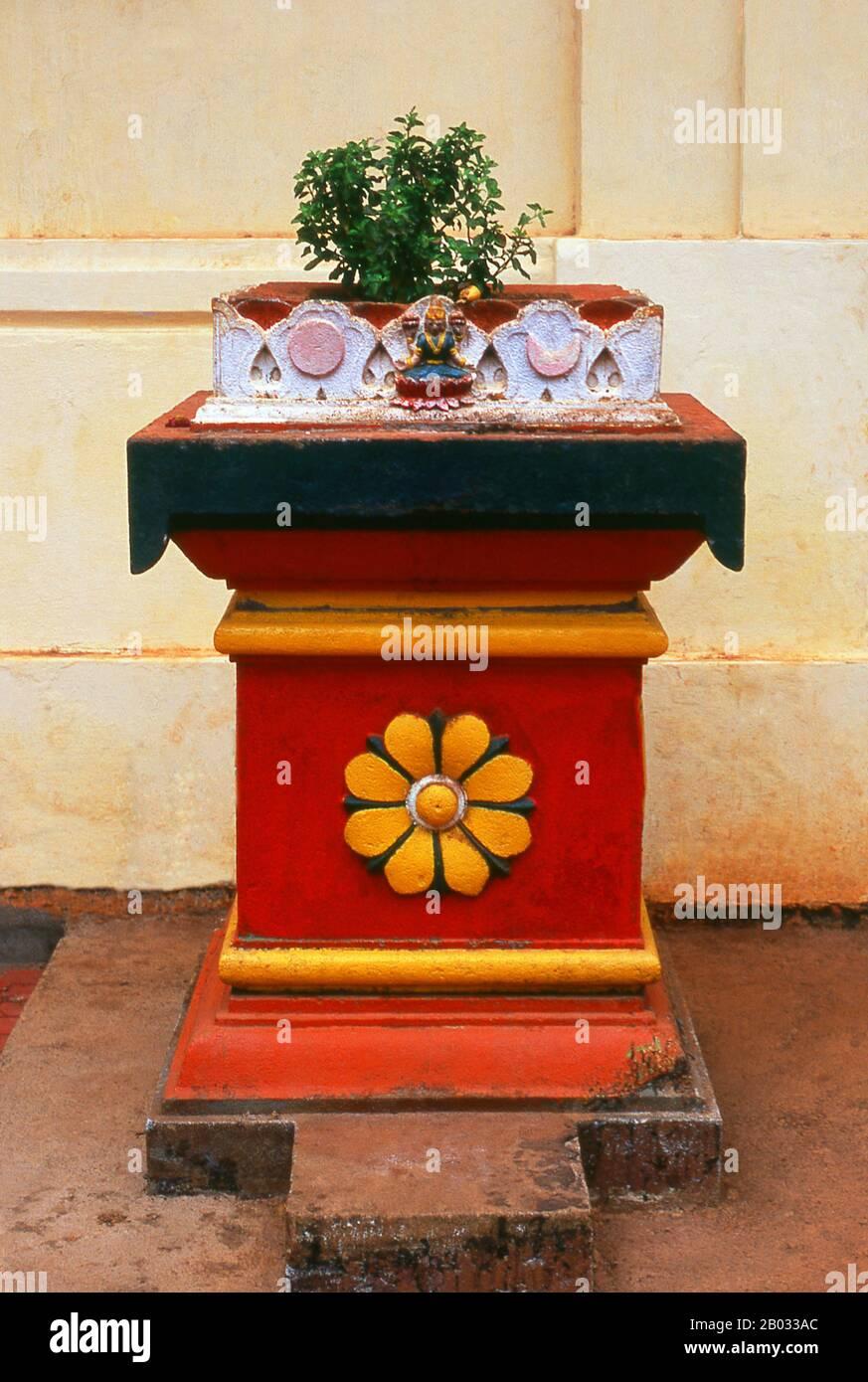 Le temple de Shri Damodar a été créé à l'origine en 1500 ce et abrite la déité hindoue Shri Damodar, une incarnation du Seigneur Shiva. Le grand temple actuel date de 1910. Banque D'Images