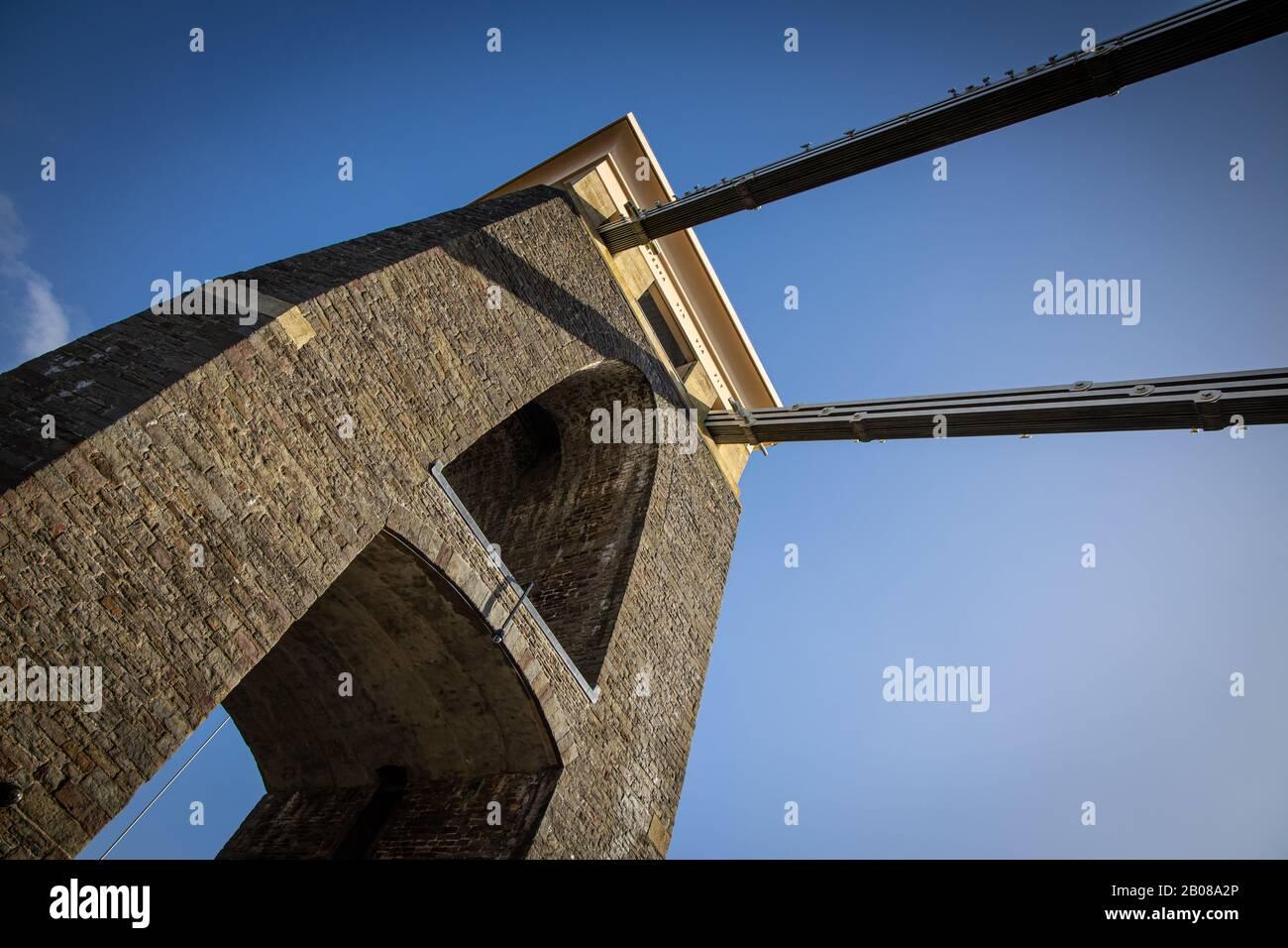 Pont Suspendu De Clifton Royaume D'Isambard Brunel Bristol Banque D'Images