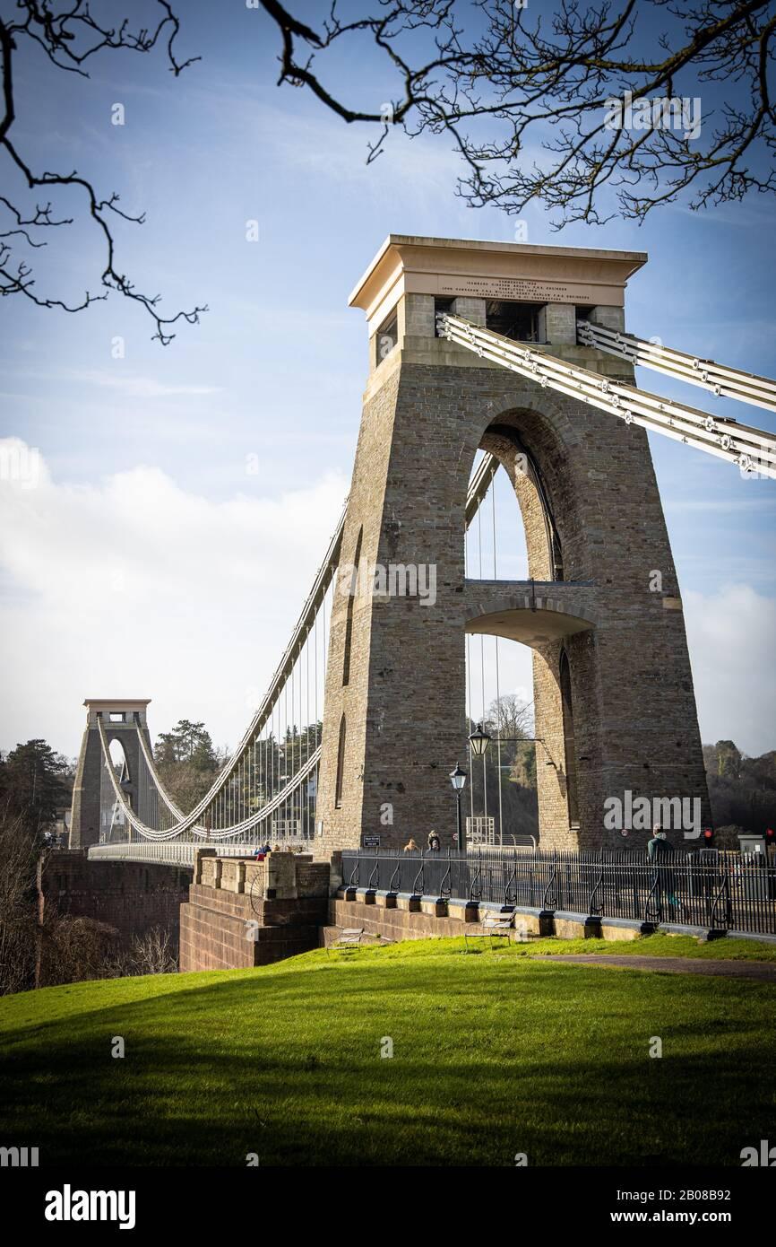 Isambard Kingdom Brunel Clifton Suspension Bridge Bristol Royaume-Uni Banque D'Images