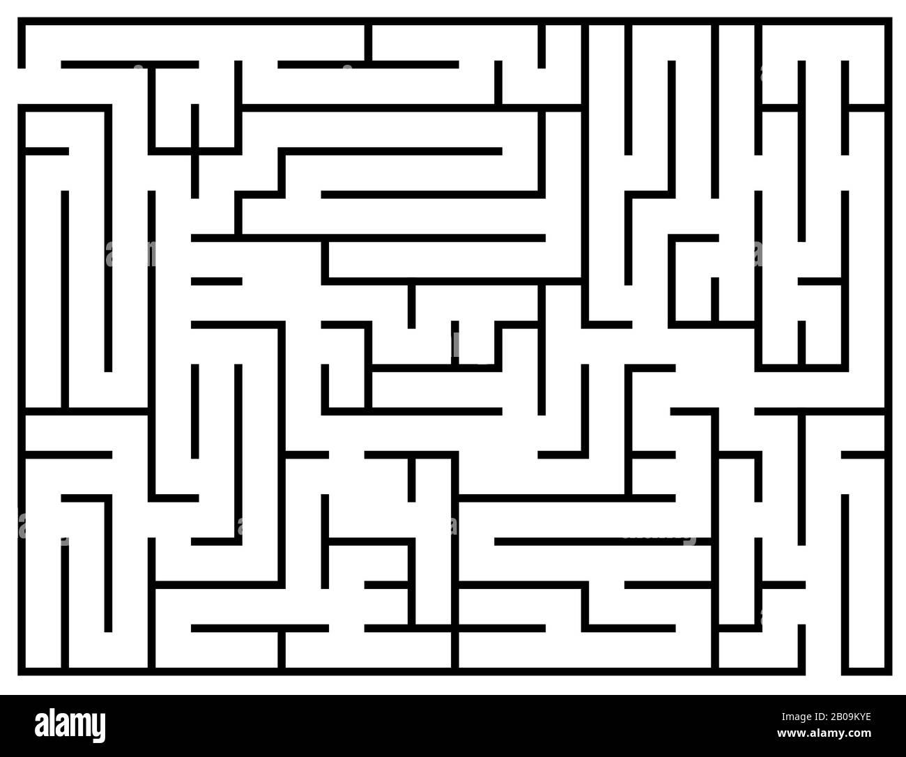 Énigme pour enfants, puzzle de labyrinthe, illustration vectorielle de labyrinthe. Jeu de labyrinthe pour le cerveau, jeu éducatif préscolaire pour le développement Illustration de Vecteur