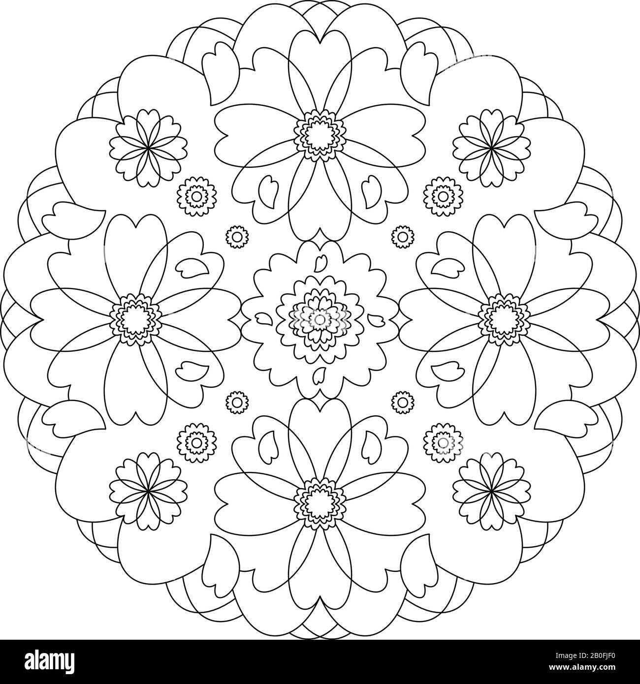 Coloriage Mandala Banque D Image Et Photos Alamy