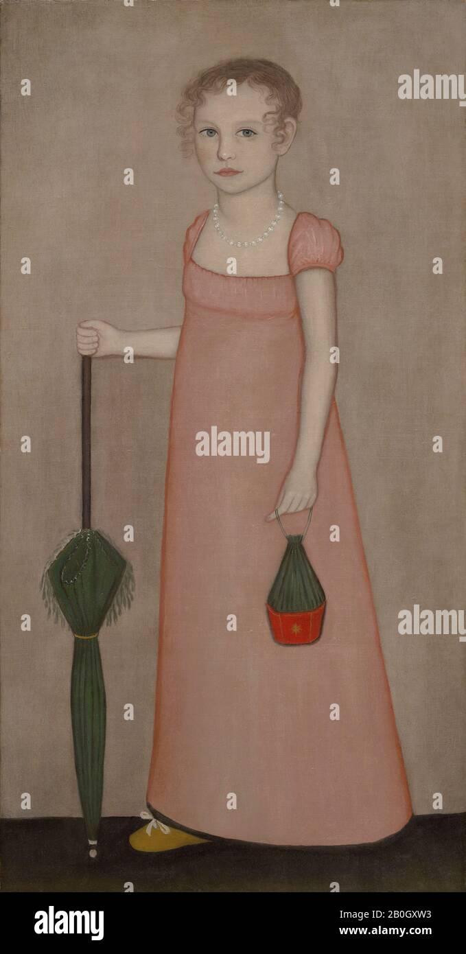 Ammi Phillips, Américain, 1788–1865, Portrait D'Harriet Campbell, C. 1815, huile sur toile, 48 1/2 x 25 in. (123,2 x 63,5 cm Banque D'Images