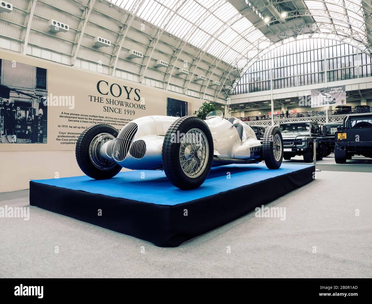 The London Classic Car Show À Olympia Londres Uk 20/02/2020 Banque D'Images
