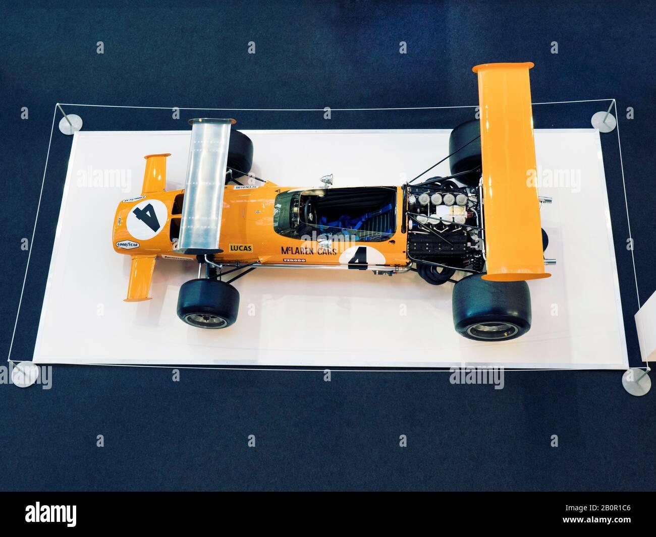 Hommage à Bruce McLaren lors Du London Classic car Show à Olympia London UK 20/02/2020 Banque D'Images