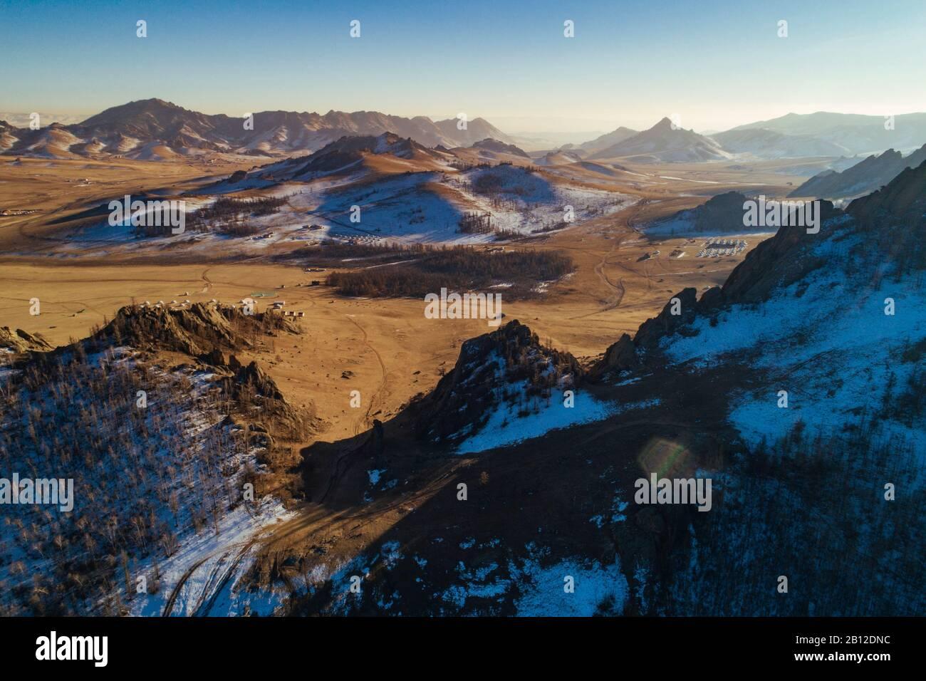 La Suisse, mongole, Parc National de Gorkhi-Terelj en Mongolie Banque D'Images