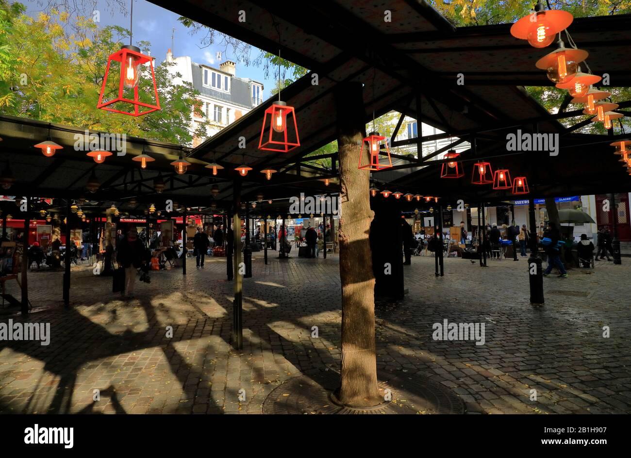 Place du Tertre à Montmartre.Paris.France Banque D'Images