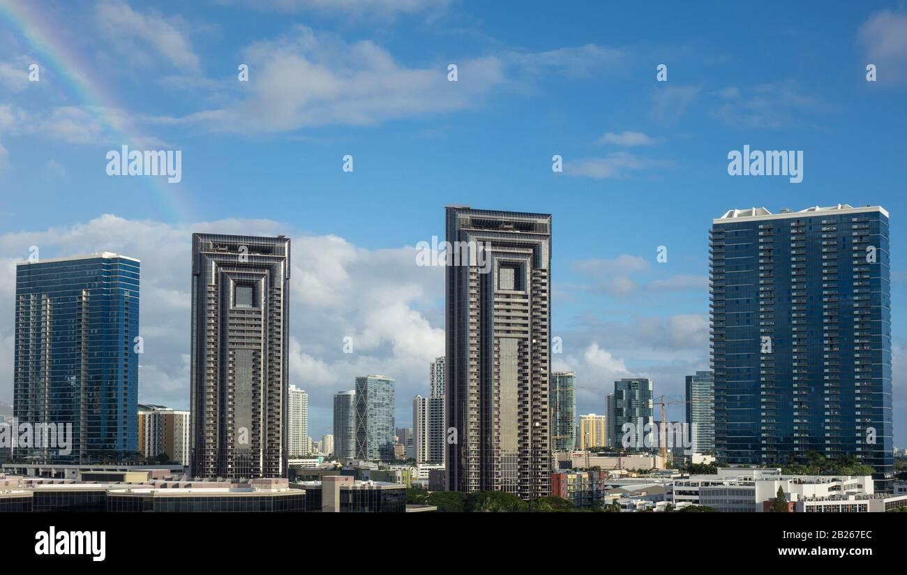 États-Unis, Hawaï, Oahu, Honolulu, centre-ville Banque D'Images