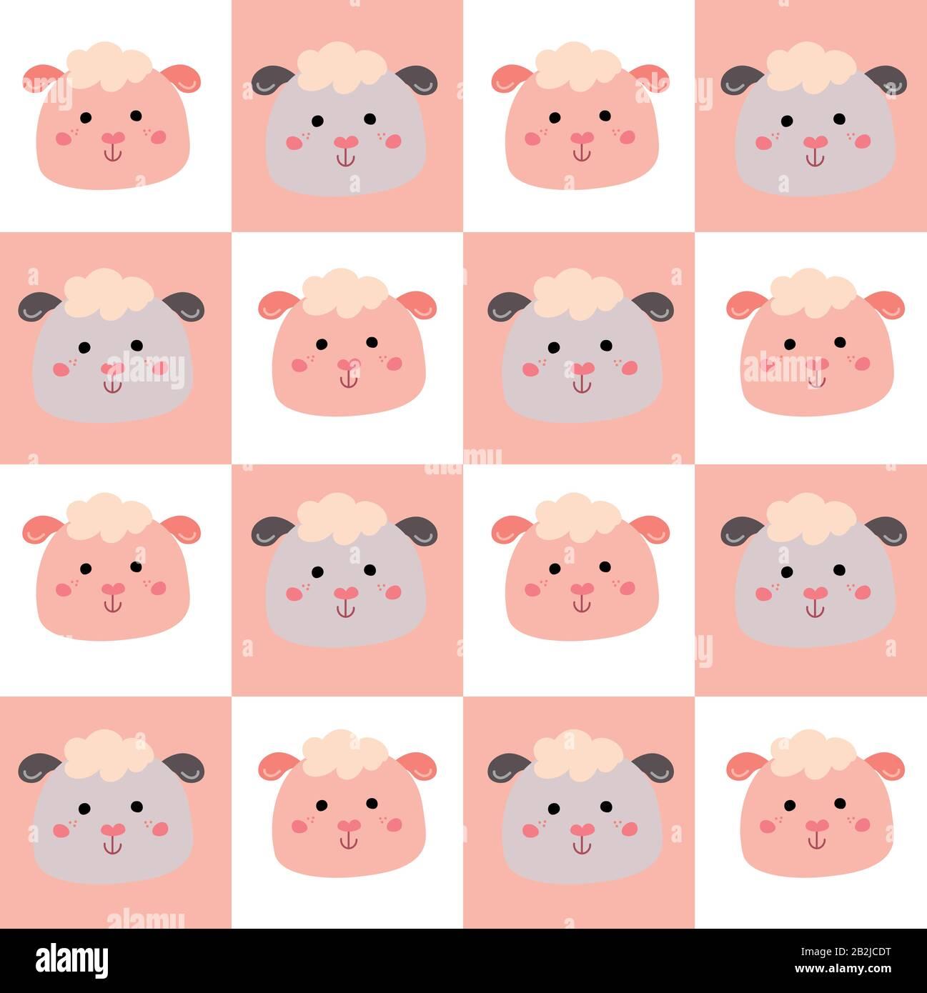 Joli motif sans coutures avec de jolis animaux pour les vêtements pour bébé Illustration de Vecteur