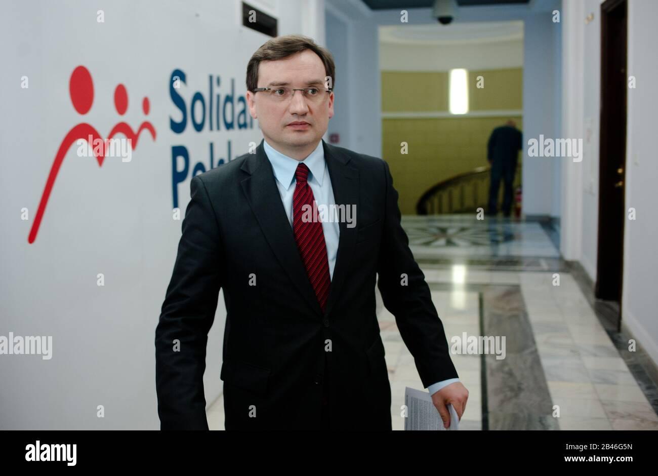 N/z Zbigniew Ziobro 16.04.2012 Warszawa Sejm Fot. Andrzejewski Maciej Banque D'Images