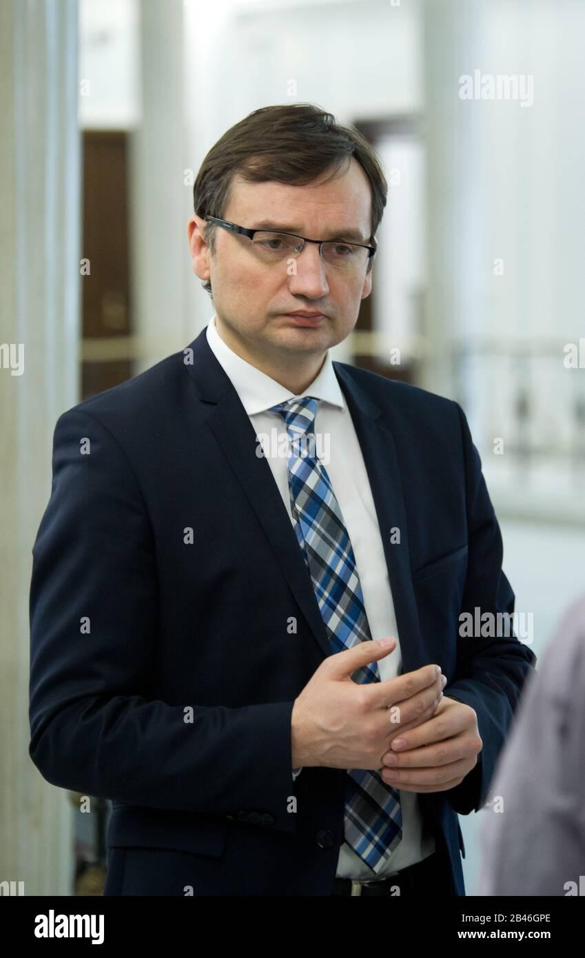 01.04.2016 Warszawa, Sejm. N/z Zbigniew Ziobro Banque D'Images