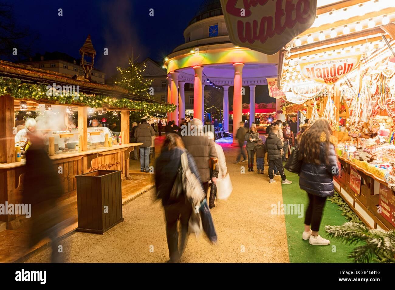 Marché De Noël, Avent, Noël, Heure Bleue, Bad Pyrmont, Weserbergland, Basse-Saxe, Allemagne, Europe Banque D'Images