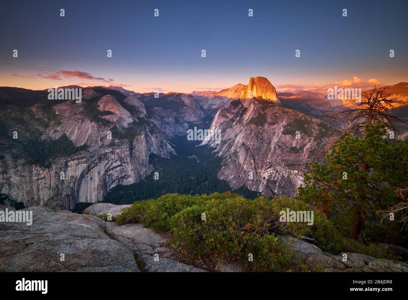 États-Unis, États-Unis D'Amérique, Half Dome Im Yosemite National Park, Californie Banque D'Images