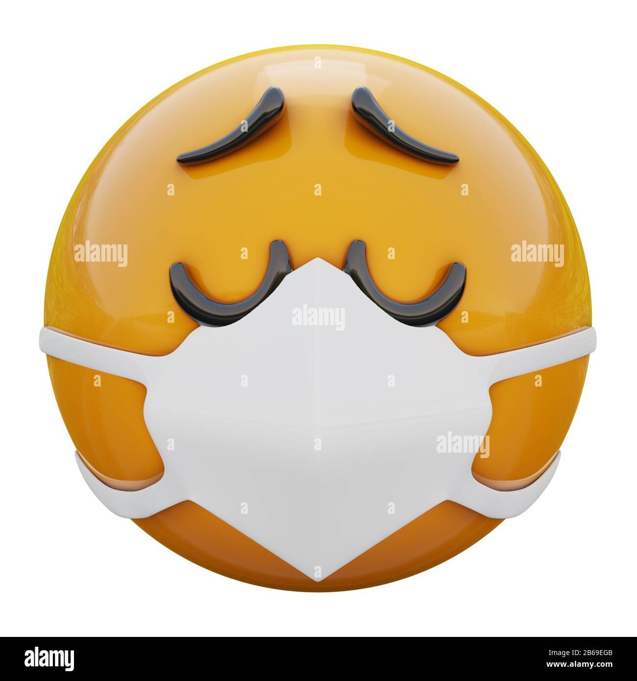 Worried Emoticon Cartoon Design Banque D Image Et Photos Alamy