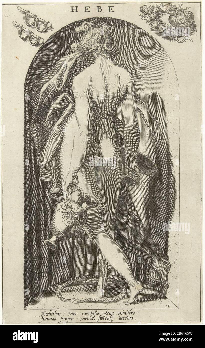Symbole de la déesse grecque Hebe est la déesse de la jeunesse ou le premier de la vie.