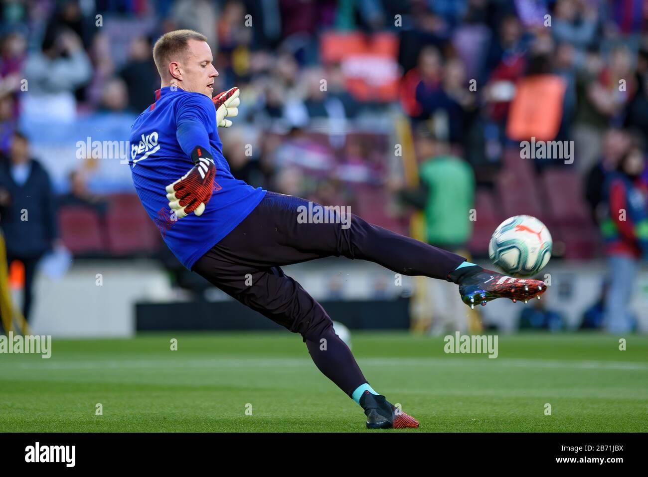 Barcelone - MAR 7: Marc-Andre ter Stegen joue au match la Liga entre le FC Barcelone et Real Sociedad de Futbol au stade Camp Nou en mars Banque D'Images