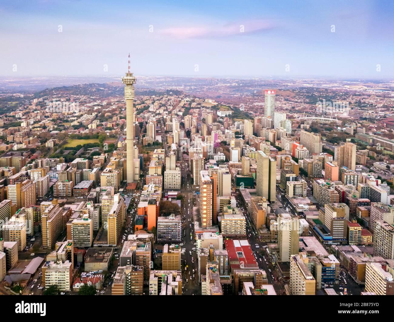 Architecture du centre-ville de Johannesburg, Afrique du Sud Banque D'Images